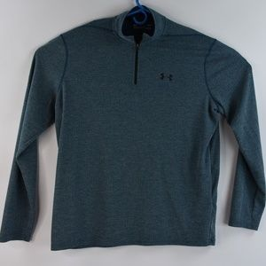Under Armour Mens Zip Up Pullover Gray Blue Large
